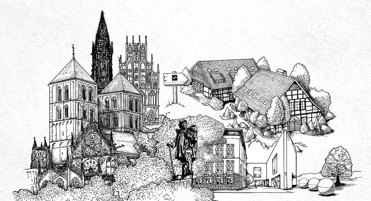 Münster, Kreativ-Epizentrum inmitten der sogenannten Werbemetropolen.